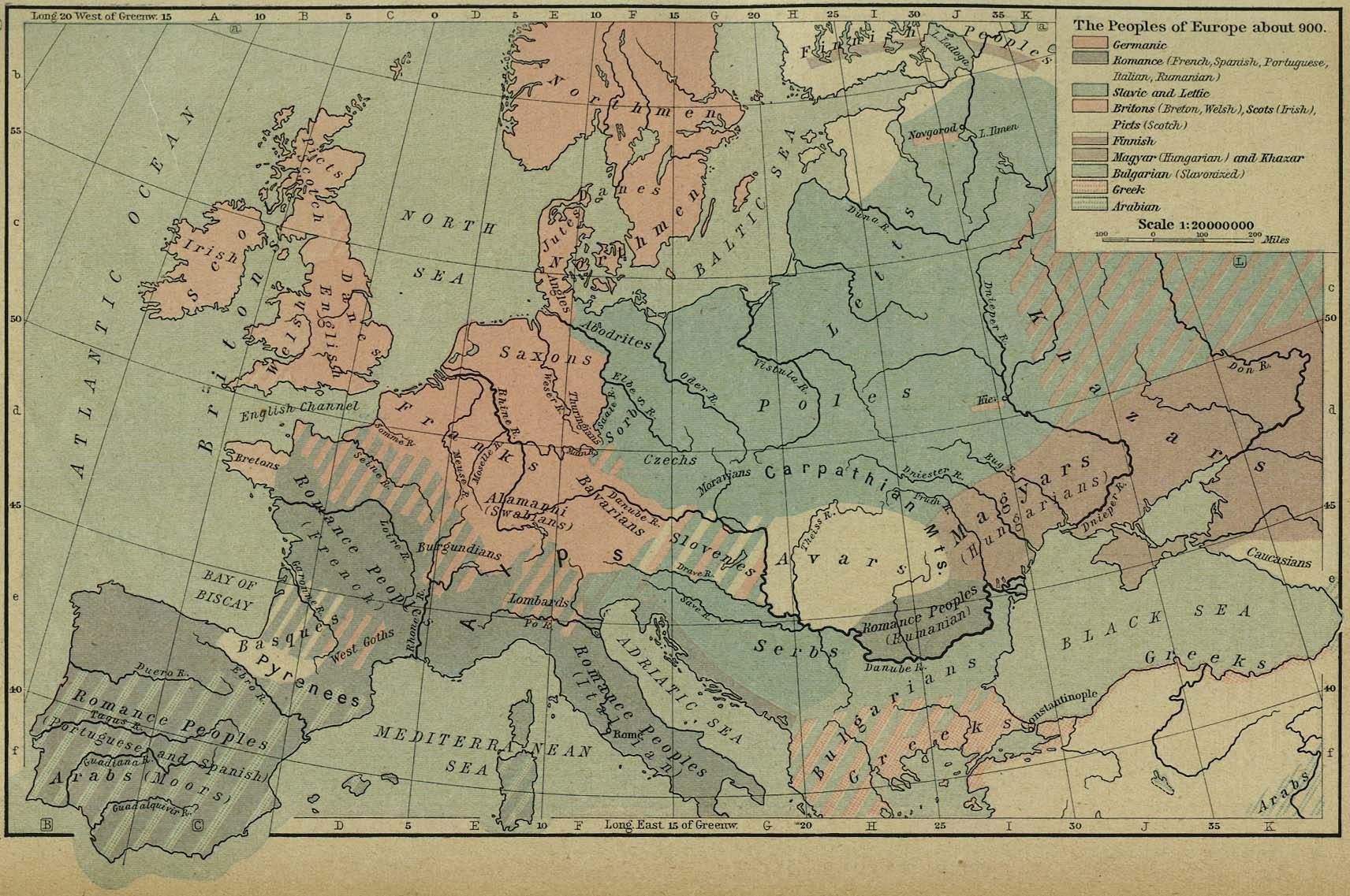 Europa Harta Populatiei Anul 900 Profu De Geogra
