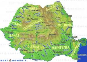 Harta Regiunilor din Romania