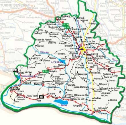 Harta Rutiera Judet Mures