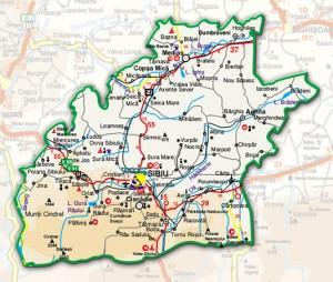 Harta administrativa a judetului Sibiu