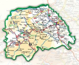 Harta administrativa a judetului Suceava