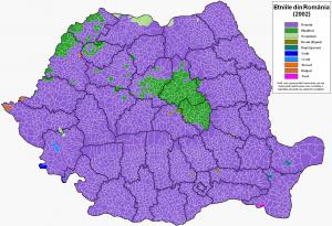 Harta etnica a Romaniei