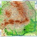 Harta fizica a Romaniei (1936)
