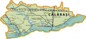 Harta fizica a judetului Calarasi