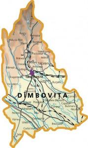 Harta fizica a judetului Dambovita