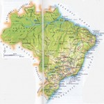 Harta fizico-geografica a Braziliei