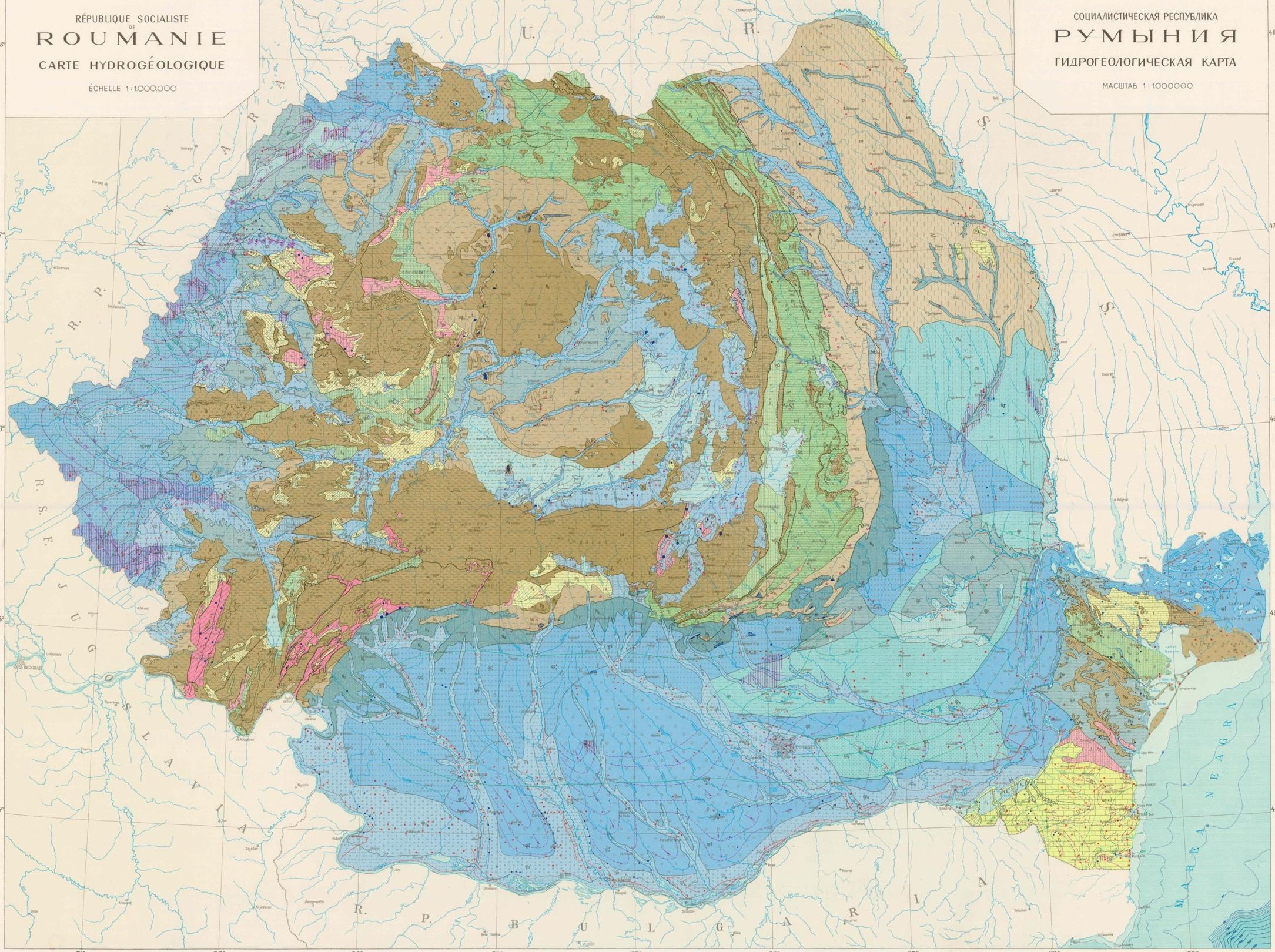 Harta Hidrogeologica A Romaniei Facuta De Rusi Profu De Geogra