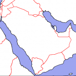 Map of the Arabian Peninsula blind