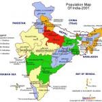 Harta populatiei Indiei