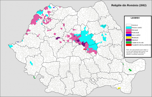Harta religiilor in Romania