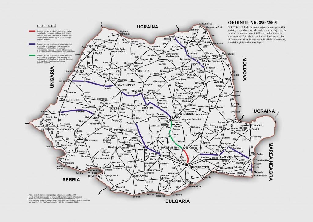 Harta Rutiera A Romaniei Profu De Geogra