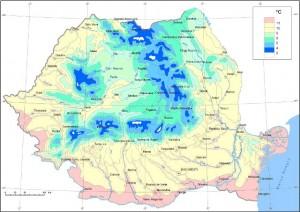 Harta-temperaturilor-in-Romania