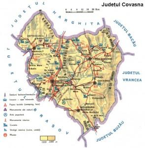 Harta turistica Covasna