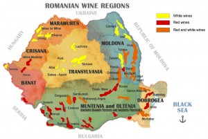 Harta viticola a Romaniei