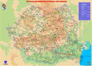 Harta drumurilor nationale din Romania
