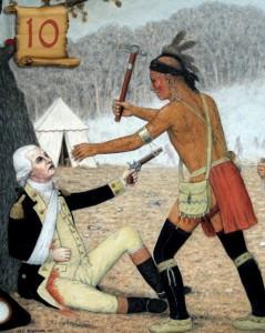 Scena de lupta intre indieni si portughezi