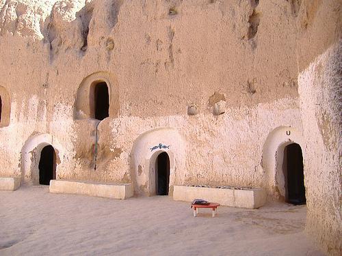 Locuinta troglodita in Tunisia