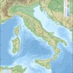 Harta hipsometrica a Italiei