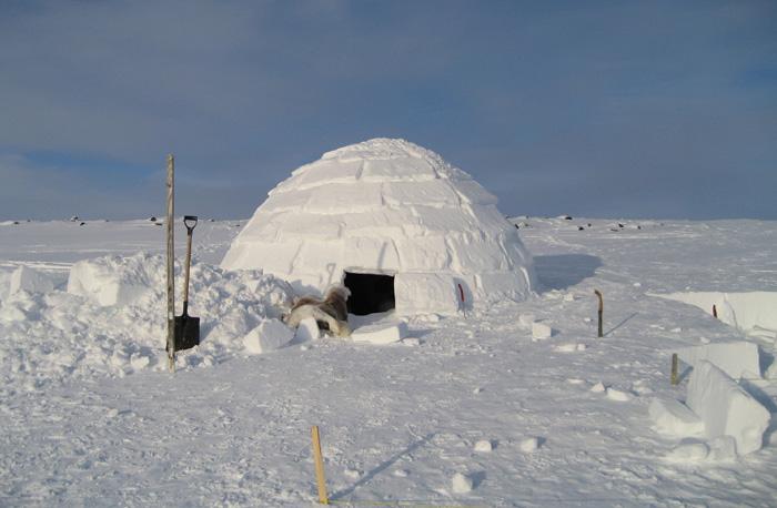 Iglu in nordul Siberiei