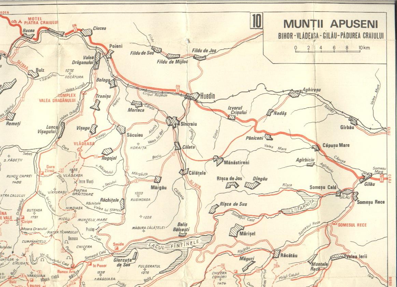 Harta Muntilor Apuseni Carpatii Occidentali Profu De Geogra