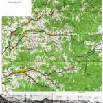 Harta turistica a Muntilor Bargau