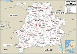 Harta rutiera a statului Belarus