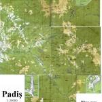 Harta Muntilor Bihor - Zona Padis (Carpatii Occidentali)