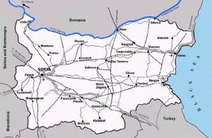 Harta rutiera a Bulgariei2