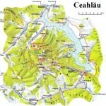 Harta turistica a muntilor Ceahlau 1