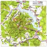 Harta turistica a muntilor Ceahlau 2