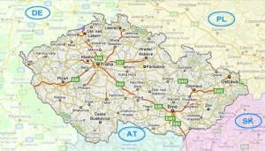 Harta rutiera a Cehiei