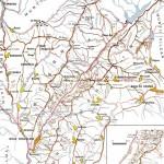 Harta turistica a zonei Cernei- Mehedinti (Carpatii Meridionali)