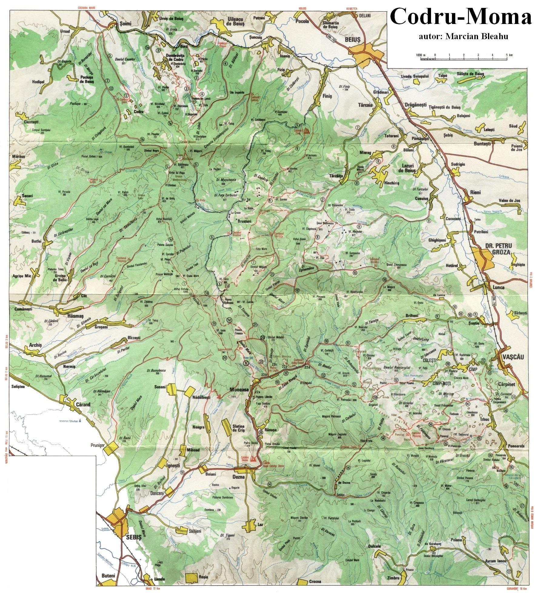Harta Muntilor Codru Moma 2 Profu De Geogra