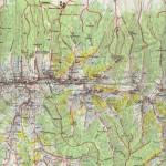 Harta turistica a Muntilor Fagaras- zona de vest