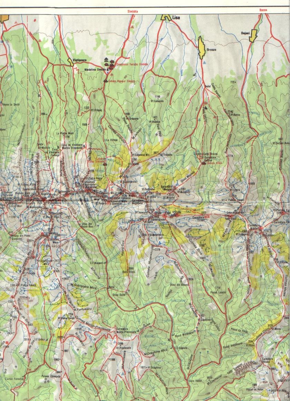 Harta Turistica A Muntilor Fagaras Carpatii Meridionali Profu