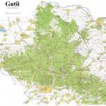 Harta turistica a Muntilor Gutai