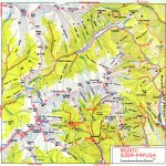 Harta Turistica a Muntilor Iezer- Papusa(Carpatii Meridionali) 1