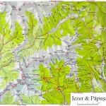 Harta Turistica a Muntilor Iezer- Papusa(Carpatii Meridionali) 2