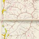 Harta turistica a Muntilor Leaota