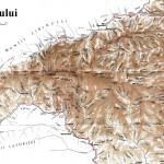 Harta turistica a muntilor Lotru