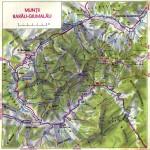 Harta turistica a Muntilor Rarau 1