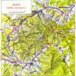 Harta turistica a zonei Rarau- Giumalau 2