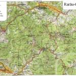 Harta turistica a zonei Rarau- Giumalau 1