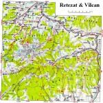 Harta turistica a muntilor Retezat 1