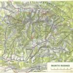 Harta turistica a Muntilor Rodna 2