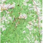 Harta Muntilor Semenic (Carpatii Occidentali)