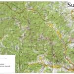 Harta turistica a Muntilor Suhard 4