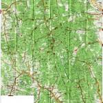 Harta turistica a Muntilor Tarcau
