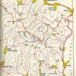 Harta turistica a Muntilor Tibles