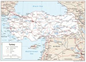 Harta rutiera a Turciei
